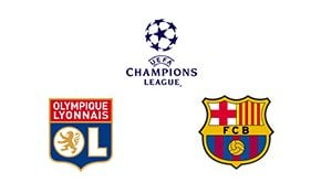 Champions League Round 16 Leg 1/2 Lyon vs Barcelona