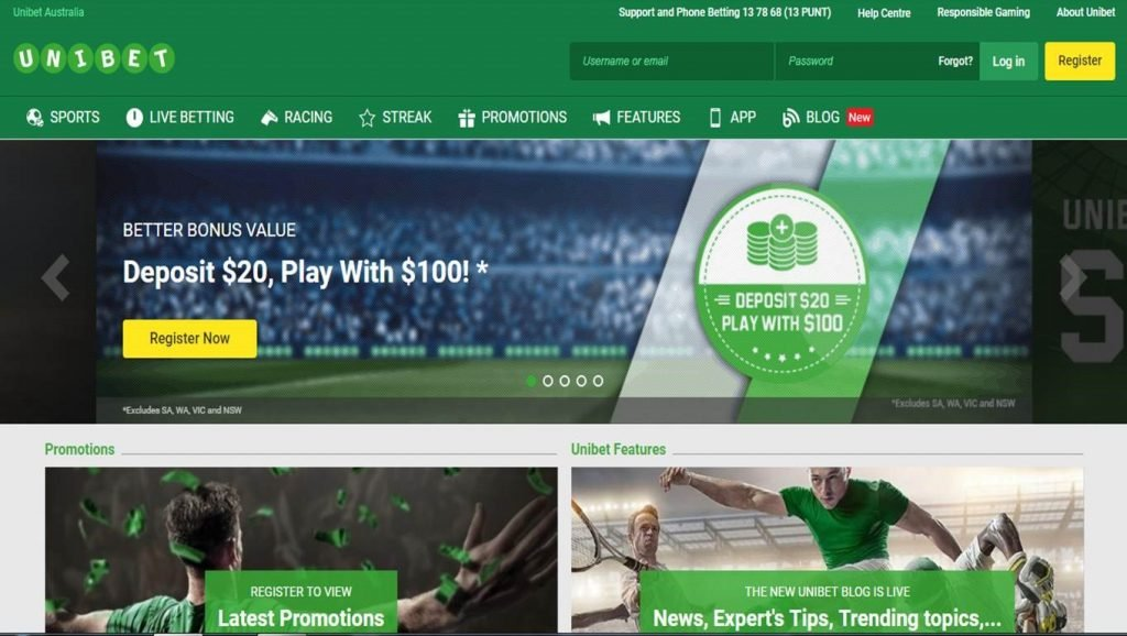 How to open an account at Unibet