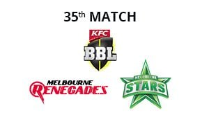 Prediction Melbourne Renegades vs Melbourne Stars