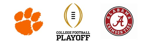 CFB College Football Playoffs Clemson vs Alabama