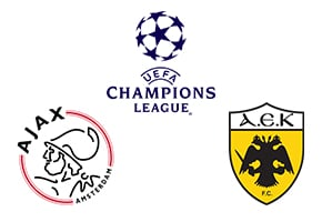 Champions League AFC Ajax vs AEK Athens F.C.