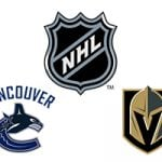 NHL Canucks vs Golden Knights