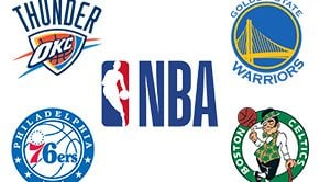 NBA Opening Night 76ers at Celtics & Thunder at Warriors