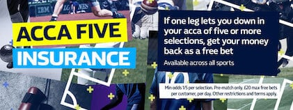 William Hill Acca Five Insureance
