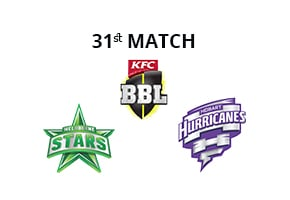Prediction Melbourne Stars vs Hobart Hurricanes