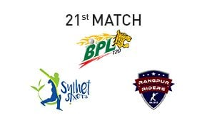 Prediction Sylhet Sixers vs Rangpur Riders