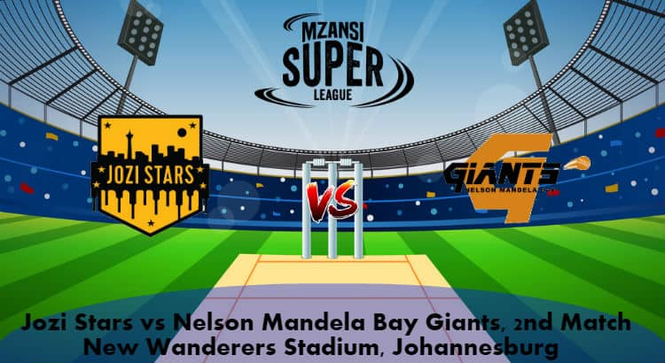 Jozi Stars vs Nelson Mandela Bay Giants 2nd Match Prediction